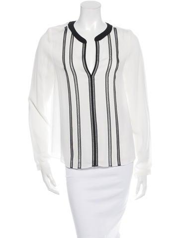 Veronica Beard Long Sleeve Silk Top w/ Tags None