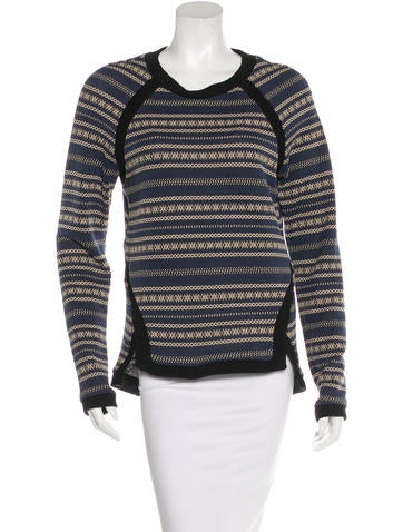 Veronica Beard Patterned Crew Neck Sweater None
