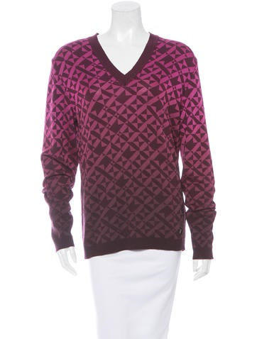 Versace Collection Pattern Knit Sweater w/ Tags None