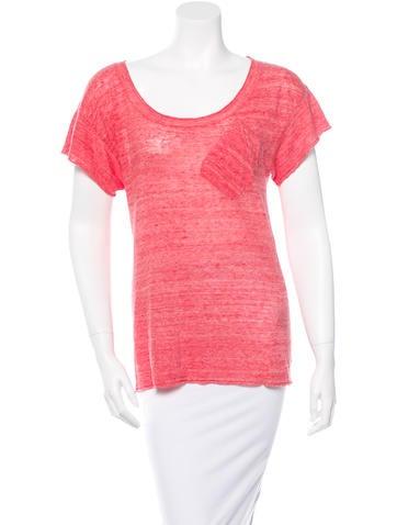 Vena Cava Scoop Neck Linen T-Shirt None