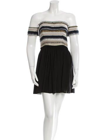 Vena Cava Striped Off-The-Shoulder Dress w/ Tags None