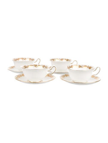 Wedgwood Whitehall Teacups and Saucers None