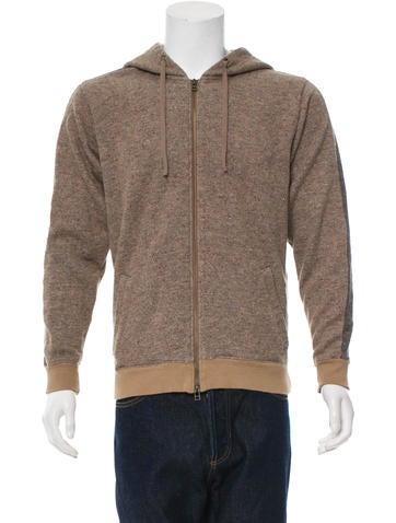 Robert Geller Hooded Zip-Up Sweater w/ Tags None
