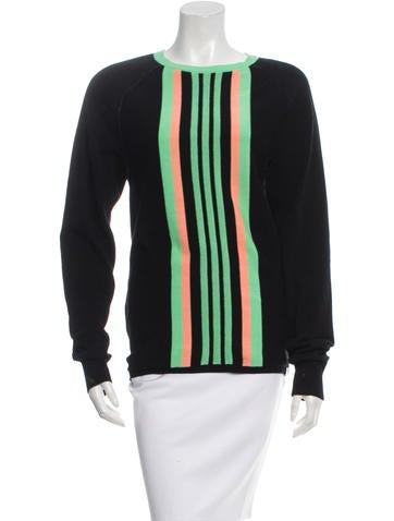 Y-3 x Adidas Striped Rib Knit-Trimmed Sweater None