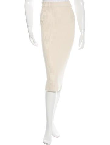 Zimmermann Rib Knit Midi Skirt None