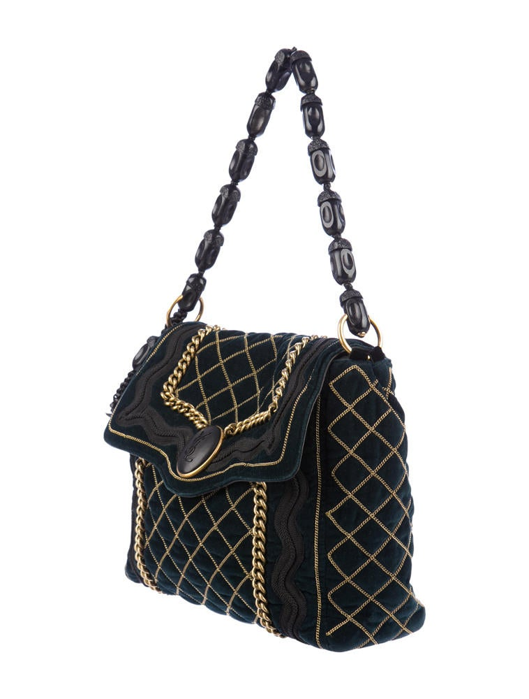 prada lime green purse - Yves Saint Laurent Sac Luxembourg - Handbags - YVE12526 | The RealReal