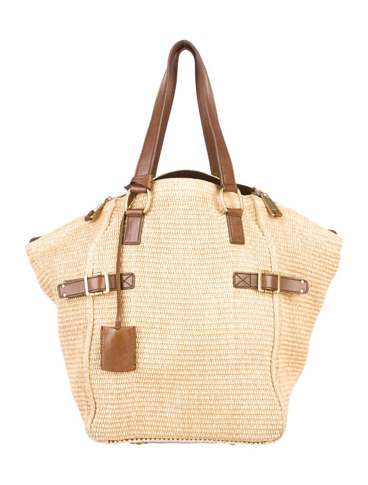 yves saint laurent jewellery - Yves Saint Laurent Raffia Downtown Straw Tote - Handbags ...