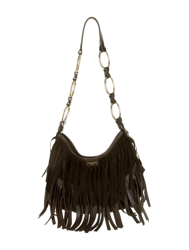 Yves Saint Laurent Fringe Shoulder Bag - Handbags - YVE25231 | The ...