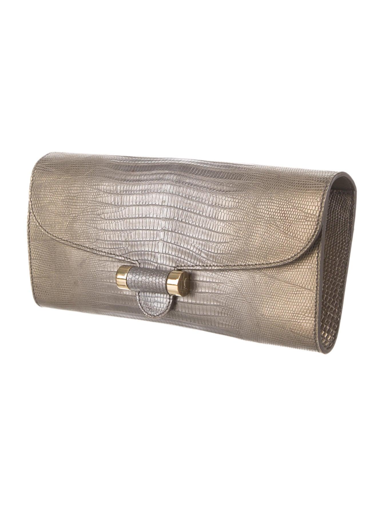 Yves Saint Laurent Lizard Clutch - Handbags - YVE32592 | The RealReal