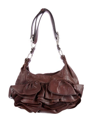 Yves Saint Laurent Ruffle Shoulder Bag