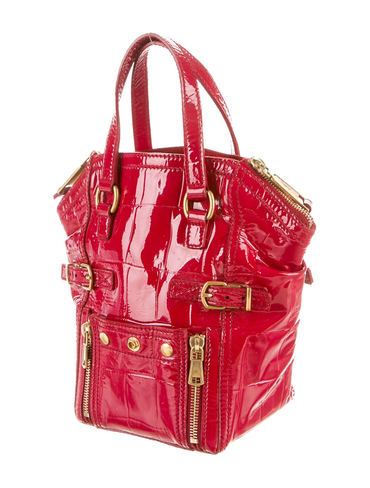 y handbags - Yves Saint Laurent Patent Leather Handle Bag - Handbags - YVE38275 ...