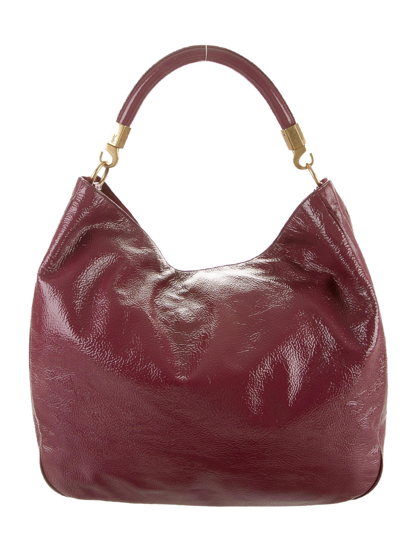 ysl belle de jour patent-leather clutch - yves saint laurent patent leather roady bag, y saint laurent borse