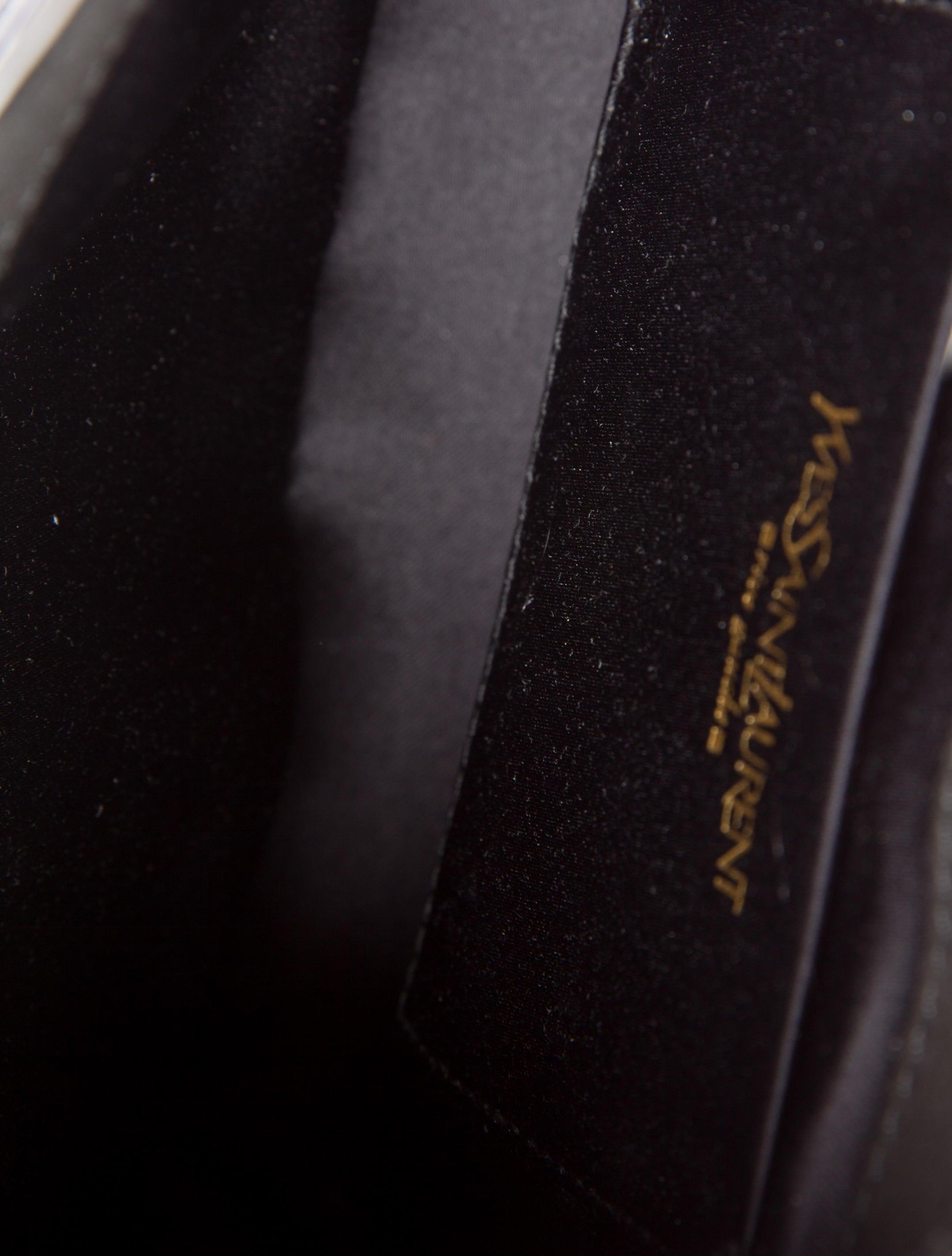 yves saint laurent leather corset shoulder bag