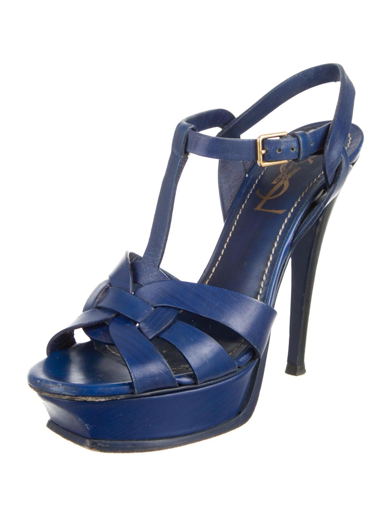 yves laurent tribute platform sandals shoes