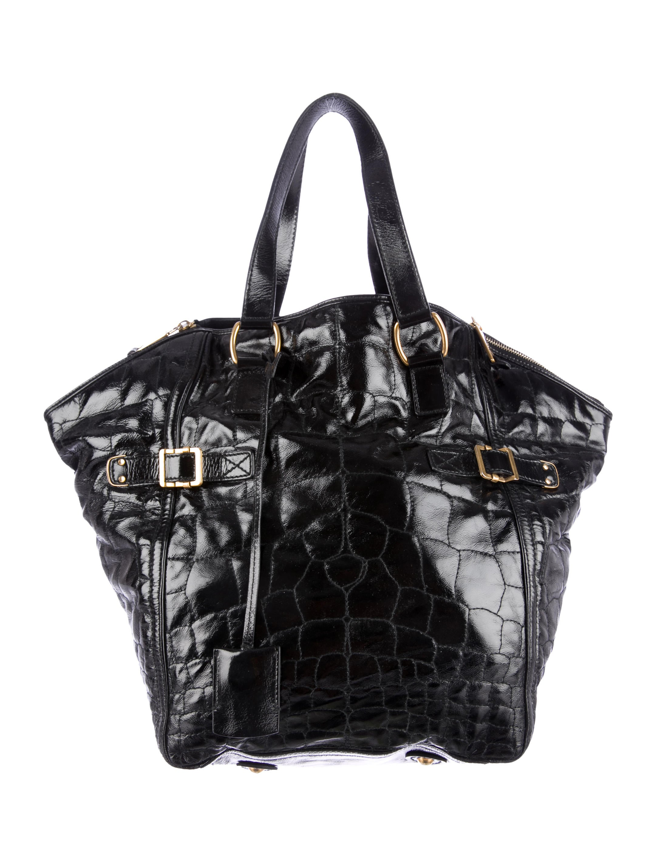 ysl messenger bag black - Yves Saint Laurent Quilted Patent Leather Tote - Handbags ...