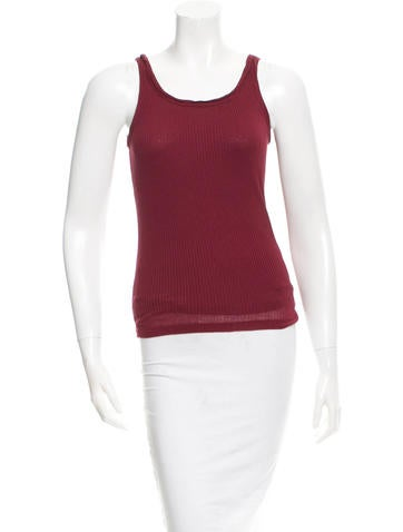 Yves Saint Laurent Sleeveless Rib Knit Top None
