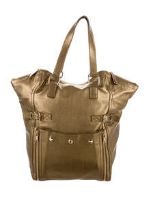 yves saint laurent embossed patent leather downtown tote