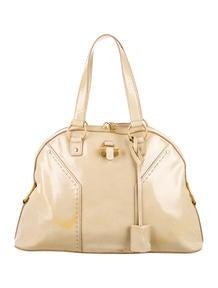 yves saint laurent medium red chyc shoulder bag - Yves Saint Laurent Metallic Mini Muse Tote - Handbags - YVE44863 ...