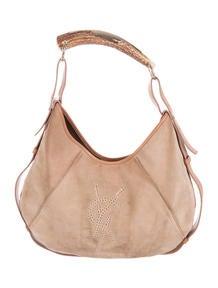 yves saint laurent bags replica - Yves Saint Laurent Scalloped Leather Shoulder Bag - Handbags ...