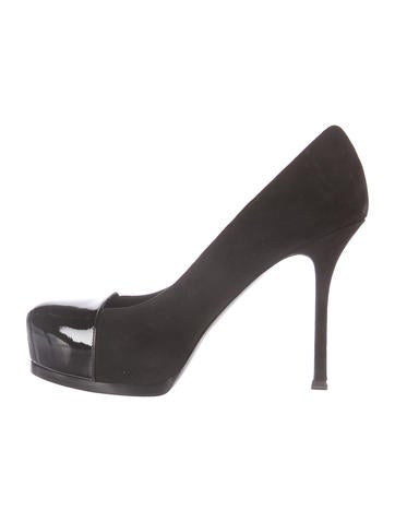 Yves Saint Laurent Suede Tribute Two Pumps