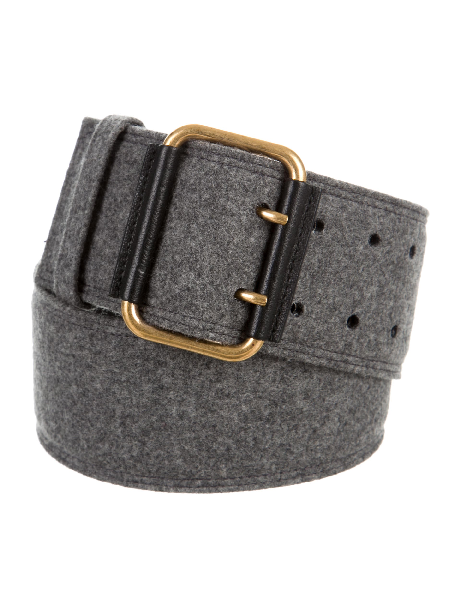 Yves Saint Laurent Tweed Waist Belt Accessories