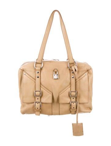 yves saint laurent ruffle-accented st. tropez bag