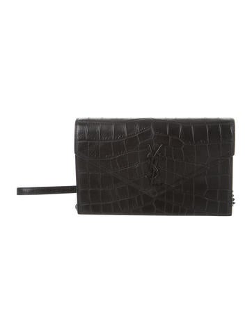 Yves Saint Laurent Monogram Envelope Chain Crossbody Bag