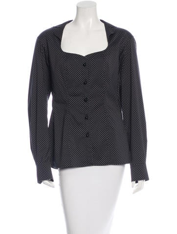 Yves Saint Laurent Long Sleeve Button-Up Top None