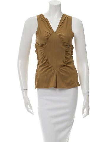 Yves Saint Laurent Ruched Sleeveless Top None