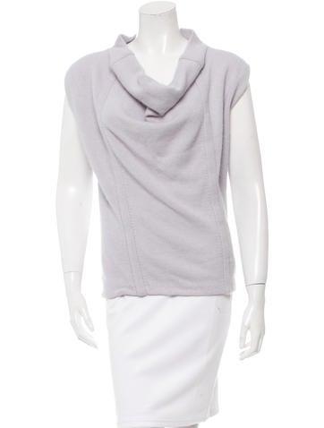 Yves Saint Laurent Cowl Neck Wool & Angora-Blend Top None