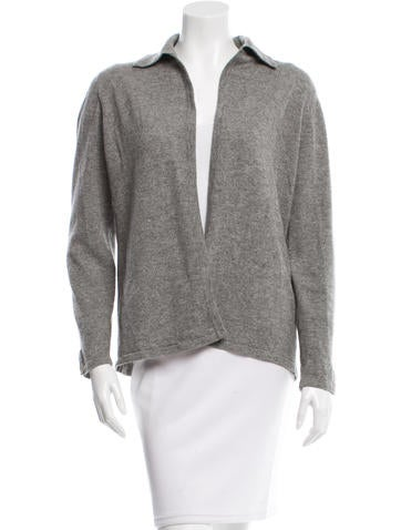 Yves Saint Laurent Cashmere Pointed Collar Cardigan None