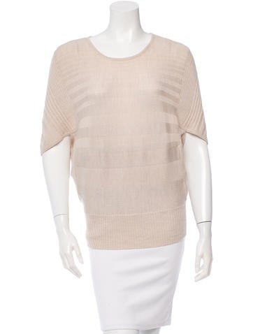 Zero + Maria Cornejo Merino Wool Rib Knit-Paneled Sweater None