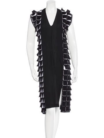 Zero + Maria Cornejo Embroidered Colorblock Dress None