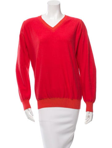 Zero + Maria Cornejo V-Neck Long Sleeve Sweater None