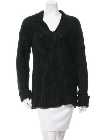 Zero + Maria Cornejo Cable Knit Wool-Blend Sweater w/ Tags None