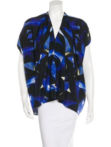 Zero + Maria Cornejo Watercolor Silk Top None