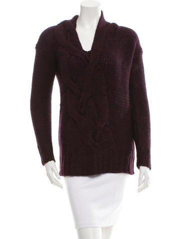 Zero + Maria Cornejo V-Neck Cable Knit Sweater w/ Tags None