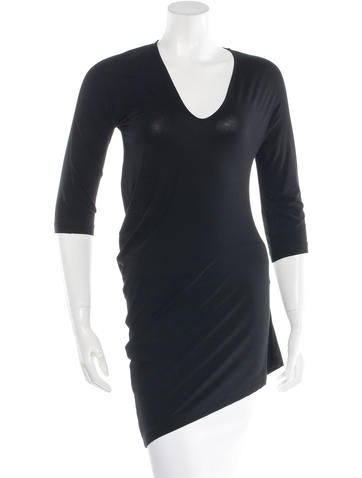 Zero + Maria Cornejo Asymmetrical V-Neck Top None