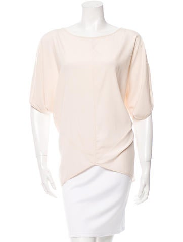 Zero + Maria Cornejo Hi-Low Silk Top None