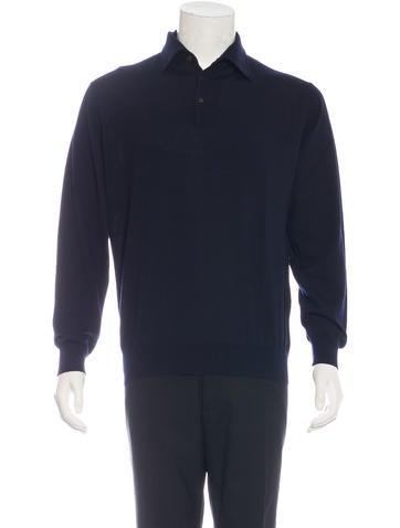 Ermenegildo Zegna Longsleeve Wool Polo None